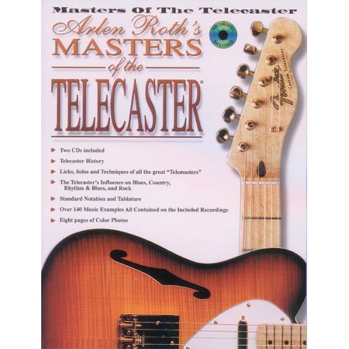 ALFRED PUBLISHING MASTERS OF THE TELECASTER + CD - GUITAR