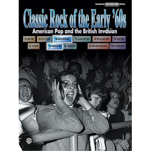 ALFRED PUBLISHING CLASSIC ROCK OF THE 60S: EARLY YEARS - GUITAR TAB