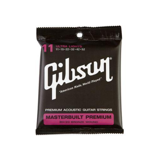 GIBSON MASTERBUILT PREMIUM 8020 BRASS .011-.052 ACOU