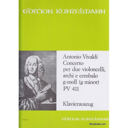 EDITION PETERS VIVALDI ANTONIO - CONCERTO IN G MINOR PV411 - CELLO ENSEMBLE