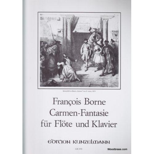 KUNZELMANN BORNE F. - CARMEN FANTASY - FLUTE AND PIANO