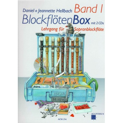 GRAHL & NIKLAS HELLBACH D. - BLOCKFLÖTENBOX BAND 1 + 2 CD's