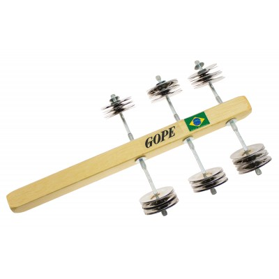 GOPE PERCUSSION ROCWO-S - SMALL ROCAR - WOOD 36 JINGLES