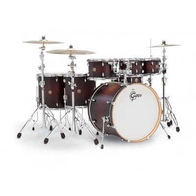 GRETSCH DRUMS CATALINA MAPLE 22/8/10/12/14/16/14SD SATIN DARK CHERRY BURST CM1-E826P-SDC ROUGE DEGRAD