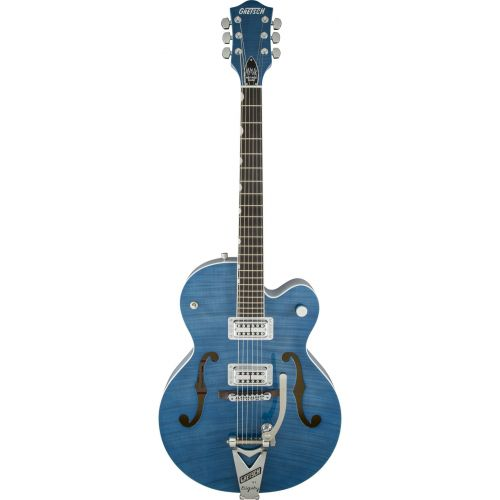 GRETSCH GUITARS G6120SH SETZER HOT ROD TV JONES SETZER SIGNATURE PICKUPS HARBOR BLUE 2-TONE