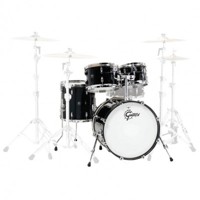 """GRETSCH DRUMS RENOWN MAPLE FUSION 20"""" PIANO BLACK"""