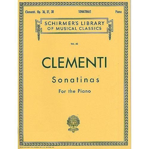 SCHIRMER MUZIO CLEMENTI SONATINAS FOR THE PIANO OP.36-38 - PIANO SOLO