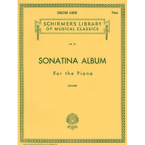 SCHIRMER SONATINA ALBUM FOR THE - PIANO SOLO