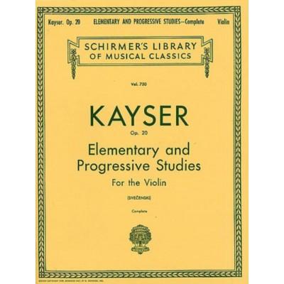 SCHIRMER KAYSER H.F. - 36 ELEMENTARY AND PROGRESSIVE STUDIES COMPLETE OP.20 - VIOLON