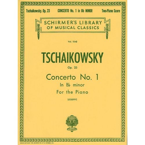 SCHIRMER PYOTR ILYICH TCHAIKOVSKY PIANO CONCERTO NO.1 IN B FLAT MINOR OP.23 - TWO PIANOS