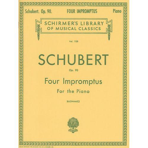 SCHIRMER FRANZ SCHUBERT FOUR IMPROMPTUS FOR PIANO OP.90 - PIANO SOLO