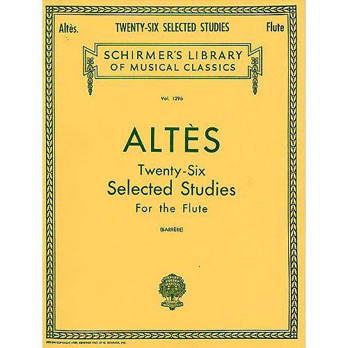 SCHIRMER ALTES H. - 26 SELECTEDS STUDIES - FLUTE