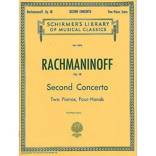SCHIRMER SERGEI RACHMANINOV PIANO CONCERTO NO.2 IN C MINOR OP.18 - TWO PIANOS