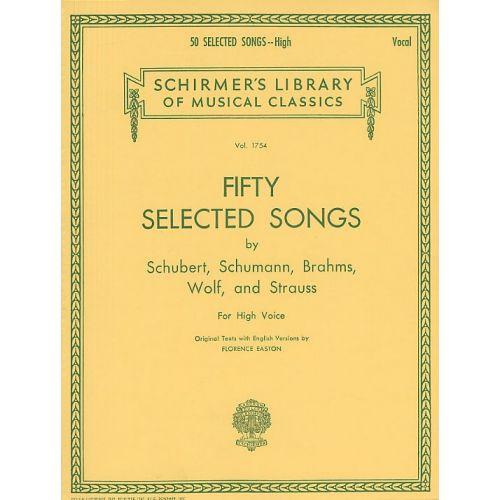 SCHIRMER 50 SELECTED SONGS - HIGH VOICE