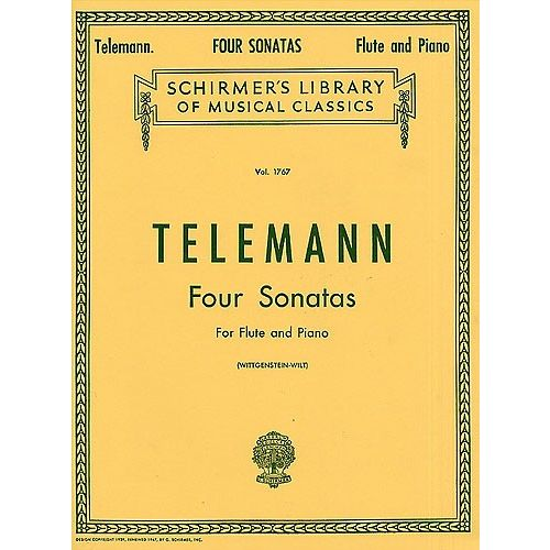 SCHIRMER TELEMANN G.P. FOUR SONATAS FOR FLUTE AND PIANO