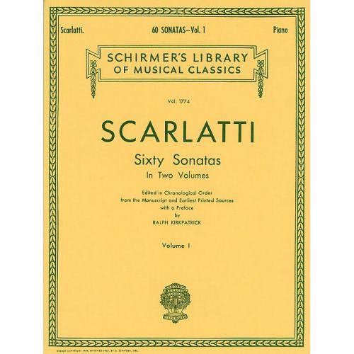 SCHIRMER DOMENICO SCARLATTI SIXTY SONATAS VOLUME ONE - HARPSICHORD