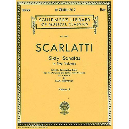 SCHIRMER SCARLATTI - SIXTY SONATAS VOLUME TWO - PIANO SOLO