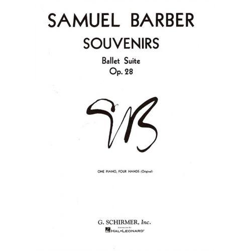 SCHIRMER SAMUEL BARBER - SOUVENIRS OP.28 - PIANO DUET