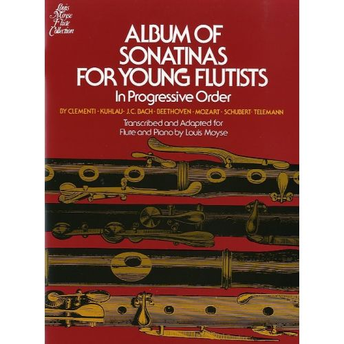 SCHIRMER MOYSE L. - ALBUM OF SONATINAS FOR YOUNG FLUTISTS