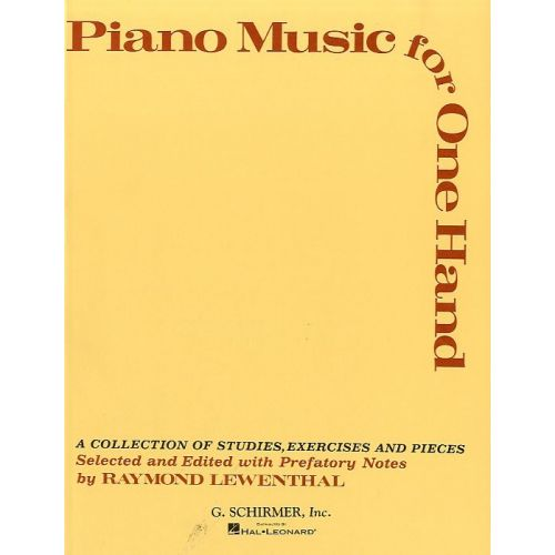 SCHIRMER PIANO MUSIC FOR ONE HAND - PIANO SOLO