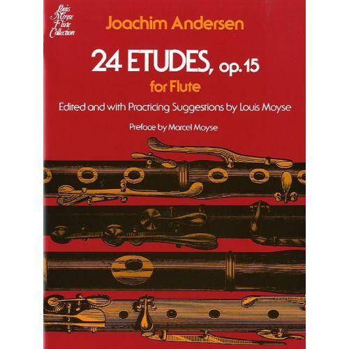 SCHIRMER JOACHIM ANDERSEN 24 ETUDES OP.15 - FLUTE