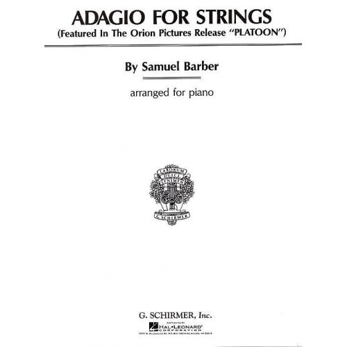 HAL LEONARD BARBER SAMUEL - ADAGIO POUR CORDES - PIANO