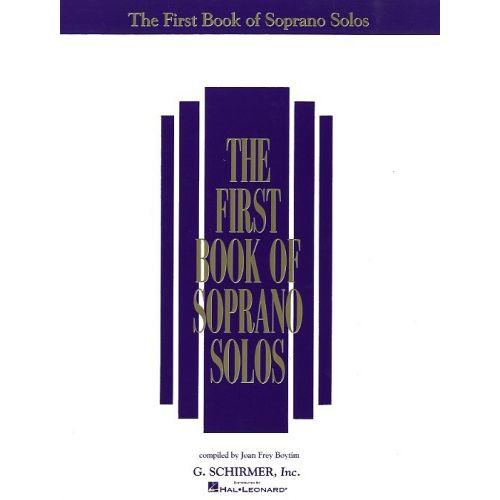SCHIRMER THE FIRST BOOK OF SOPRANO SOLOS - SOPRANO