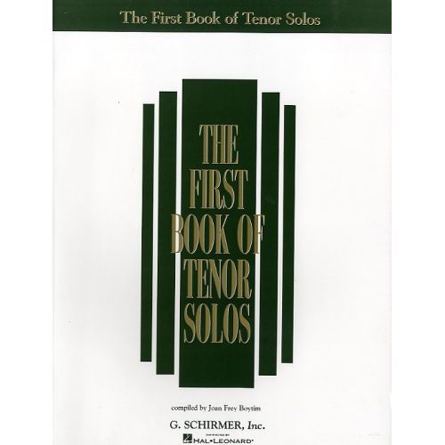SCHIRMER THE FIRST BOOK OF TENOR SOLOS - TENOR