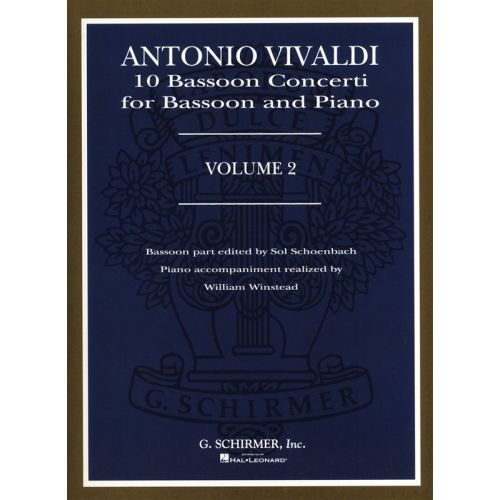 SCHIRMER VIVALDI A. - 10 BASSOON CONCERTI VOL 2