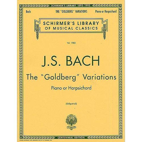 SCHIRMER J.S. BACH THE GOLDBERG VARIATIONS - HARPSICHORD