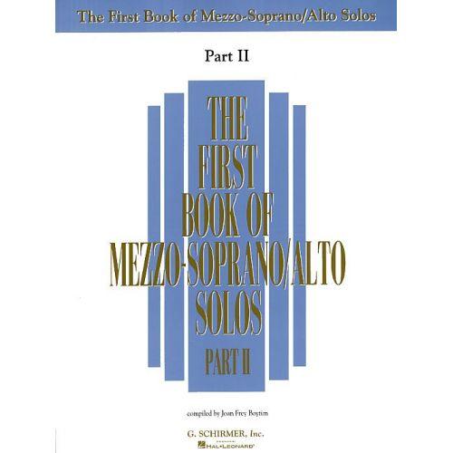 SCHIRMER THE FIRST BOOK OF MEZZO-SOPRANO/ALTO SOLOS PART II