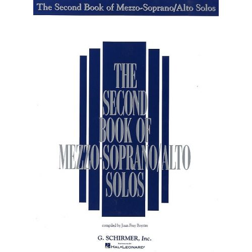 SCHIRMER THE SECOND BOOK OF MEZZO-SOPRANO/ALTO SOLOS
