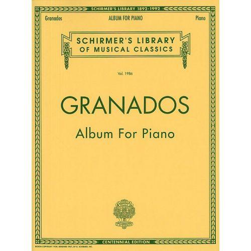 SCHIRMER ENRIQUE GRANADOS ALBUM - PIANO SOLO