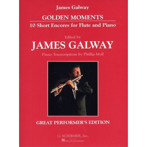 SCHIRMER GOLDEN MOMENTS 10 SHORT ENCORES FOR FLUTE AND PIANO