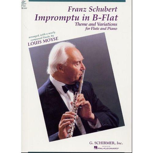 SCHIRMER FRANZ SCHUBERT - IMPROMPTU IN B FLAT - THEME AND VARIATIONS FOR FLUTE