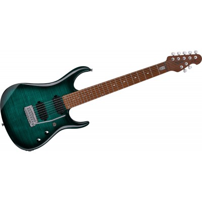 STERLING BY MUSIC MAN JP15 7 - FLAME MAPLE TEAL