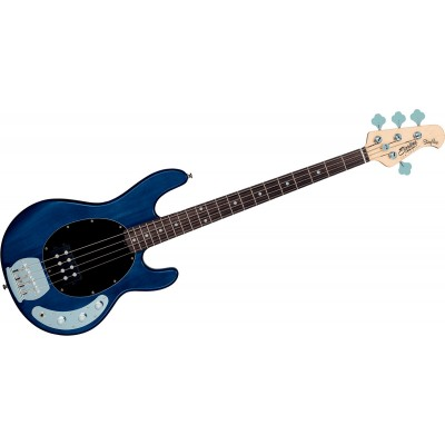 STERLING BY MUSIC MAN STINGRAY IN TRANS BLUE SATIN