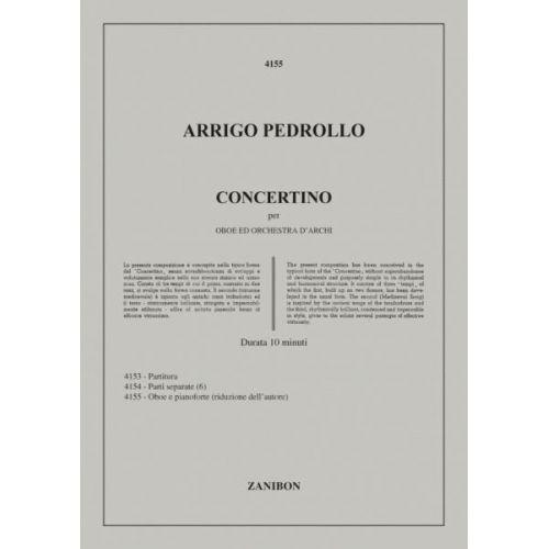 RICORDI PEDROLLO A. - CONCERTINO PER OBOE E ORCHESTRA D'ARCHI - HAUTBOIS ET CORDES