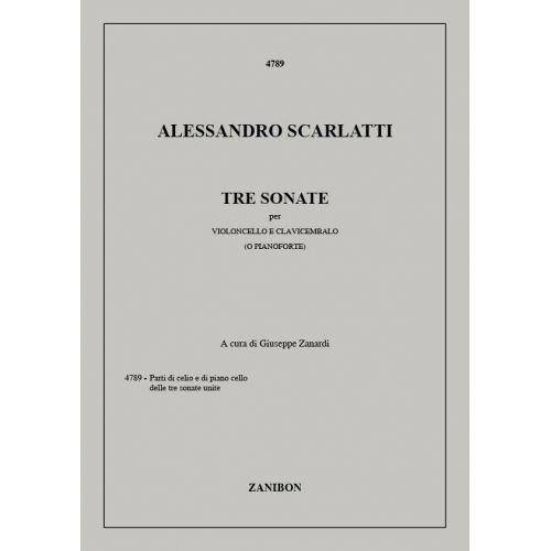 ZANIBON SCARLATTI A. - 3 SONATE PER VIOLONCELLO E CLAVICEMBALO