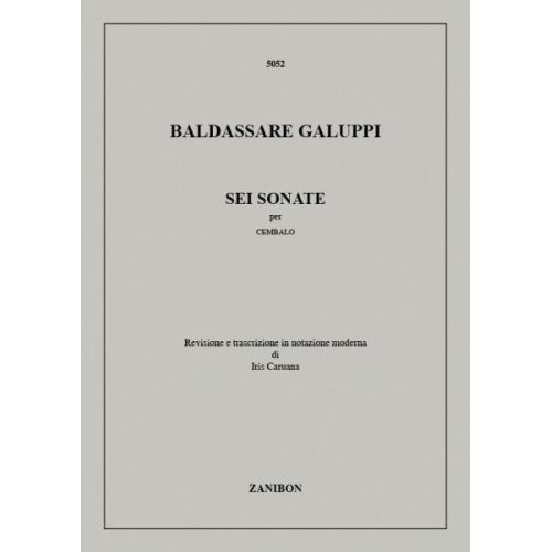 RICORDI GALUPPI B. - 6 SONATE - CLAVECIN