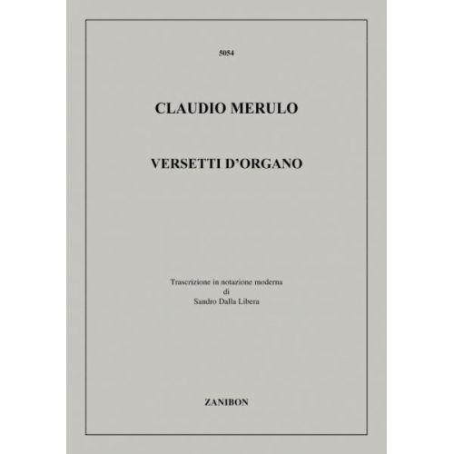 RICORDI MERULO C. - VERSETTI D'ORGANO - ORGUE