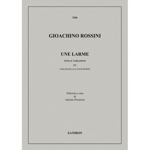 ZANIBON ROSSINI G. - UNE LARME - VIOLONCELLE ET PIANO
