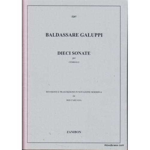 RICORDI GALUPPI B. - DIECI SONATE (8 SONATE E 2 DIVERTIMENTI) - CLAVECIN