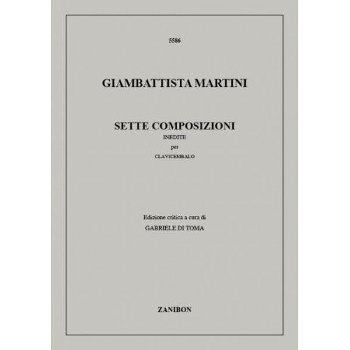 RICORDI MARTINI G.B. - 7 COMPOSIZIONI INEDITE - CLAVECIN