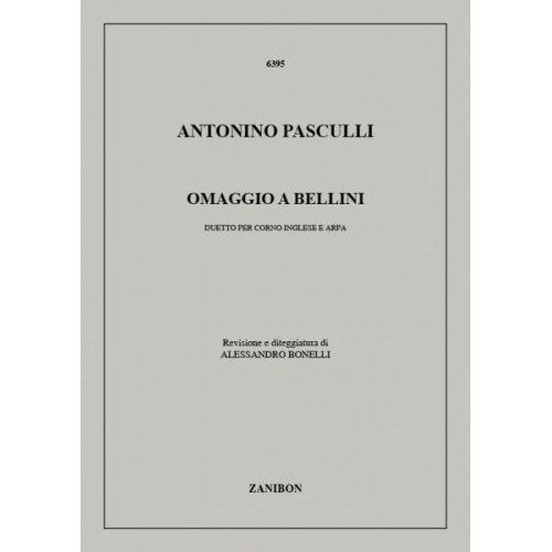 RICORDI PASCULLI A. - OMAGGIO A BELLINI - HAUTBOIS