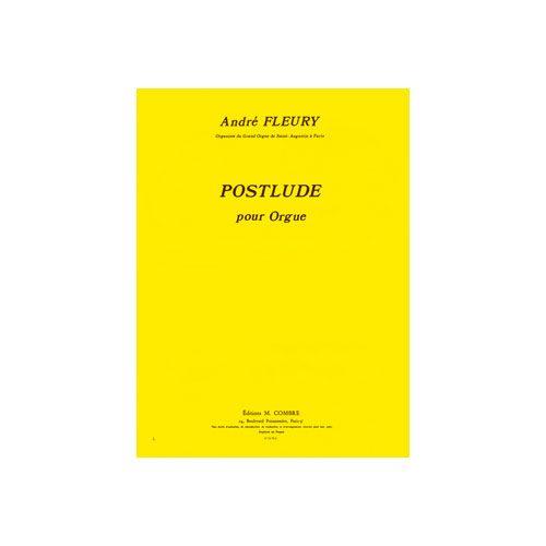 COMBRE FLEURY ANDRE - POSTLUDE - ORGUE
