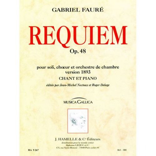 LEDUC FAURE GABRIEL - REQUIEM OP.48 - CHANT, PIANO