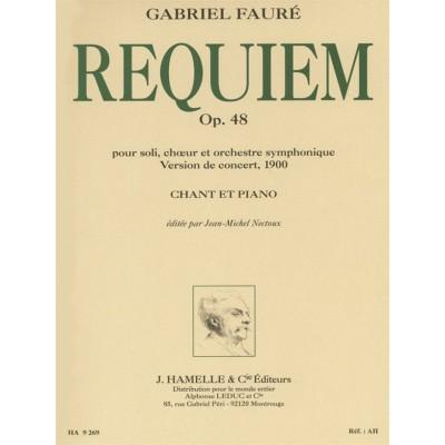 HAMELLE EDITEURS FAURE GABRIEL - REQUIEM OP.48 (VERSION 1900) - CHANT, PIANO