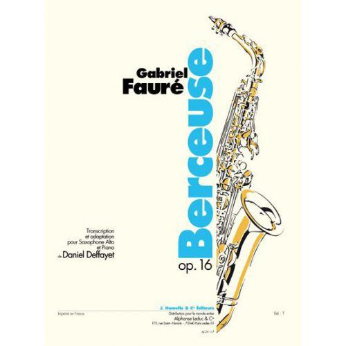 LEDUC FAURE GABRIEL - BERCEUSE OP.16 - SAXOPHONE, PIANO