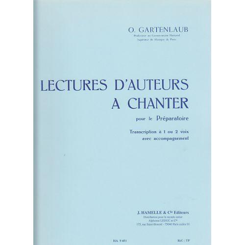 HORTENSIA GARTENLAUB ODETTE - LECTURES D'AUTEURS A CHANTER PRÉPARATOIRE (1 OU 2 VOIX) AVEC ACCOMPAGNEMENT